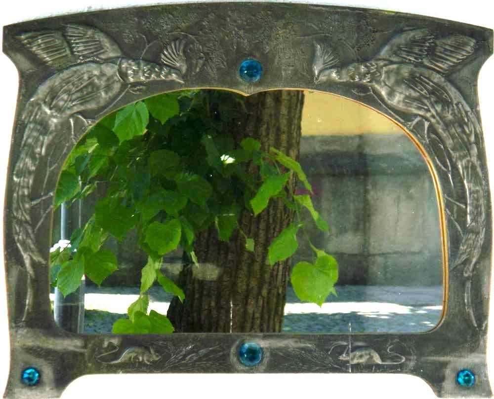 jugendstil-spiegel-bild-mit-baum