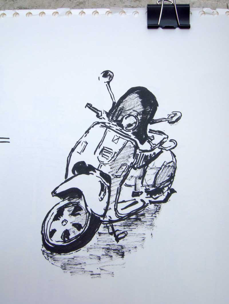 vespa-zeichnung