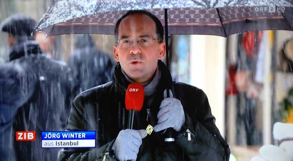 Schnee Winter Istanbul ORF