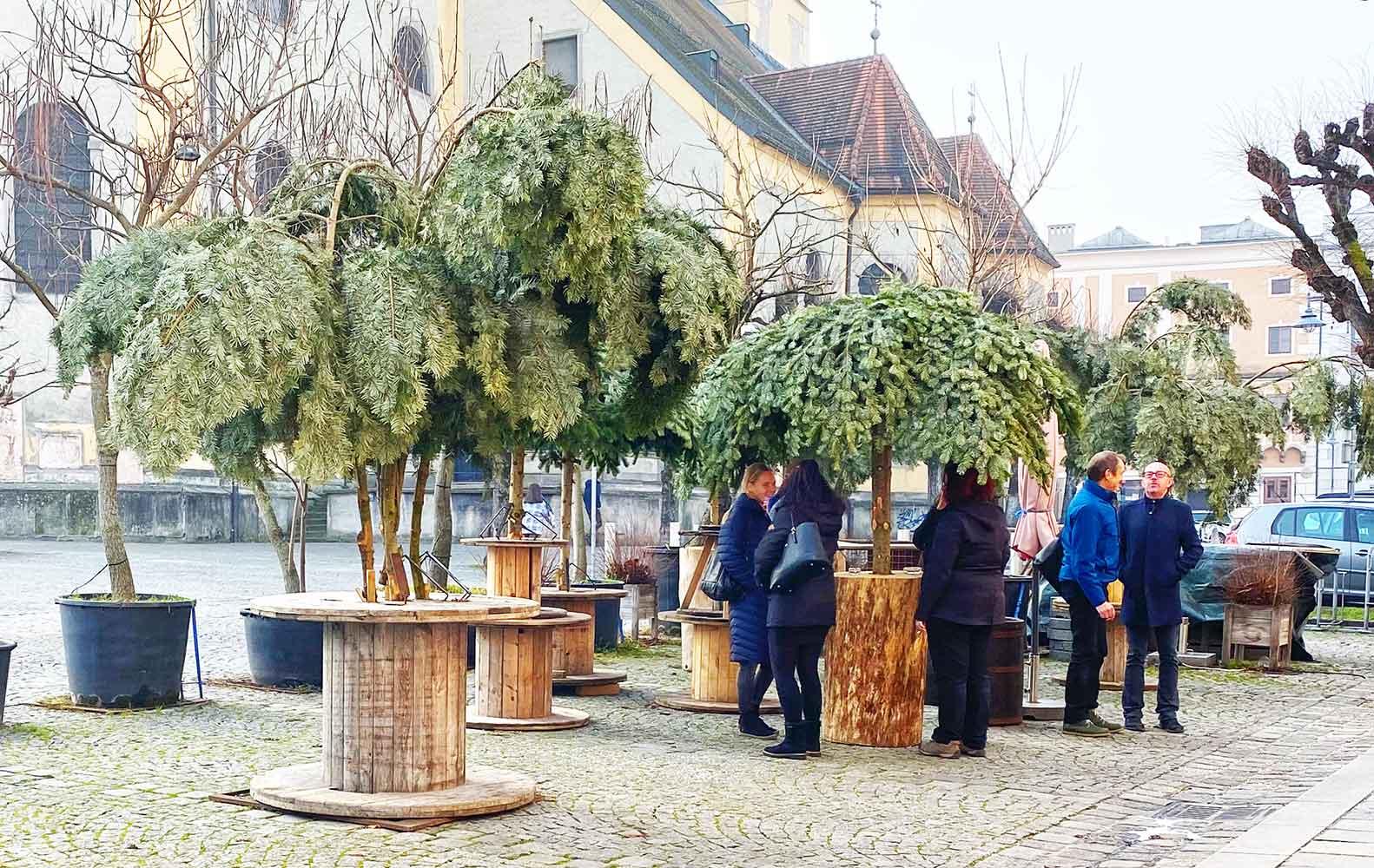 Café Meiers Raucherwäldchen in Linz am Pfarrplatz