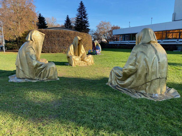 Drei Goldhauben im Brucknerpark?