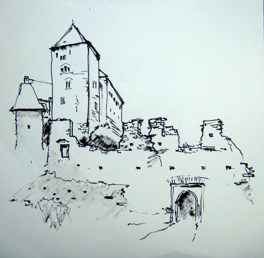 Burg-Hardegg-Zeichnung
