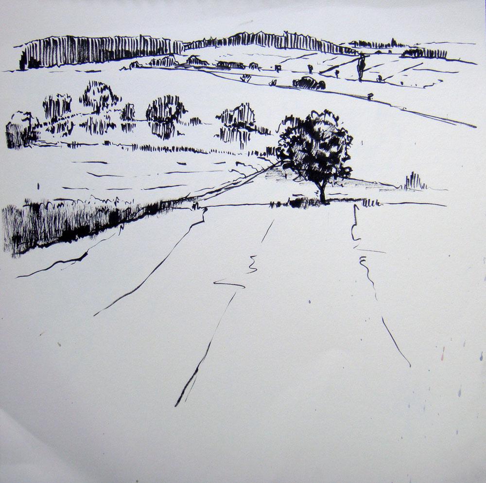 Landschaft-Geras-Zeichnung