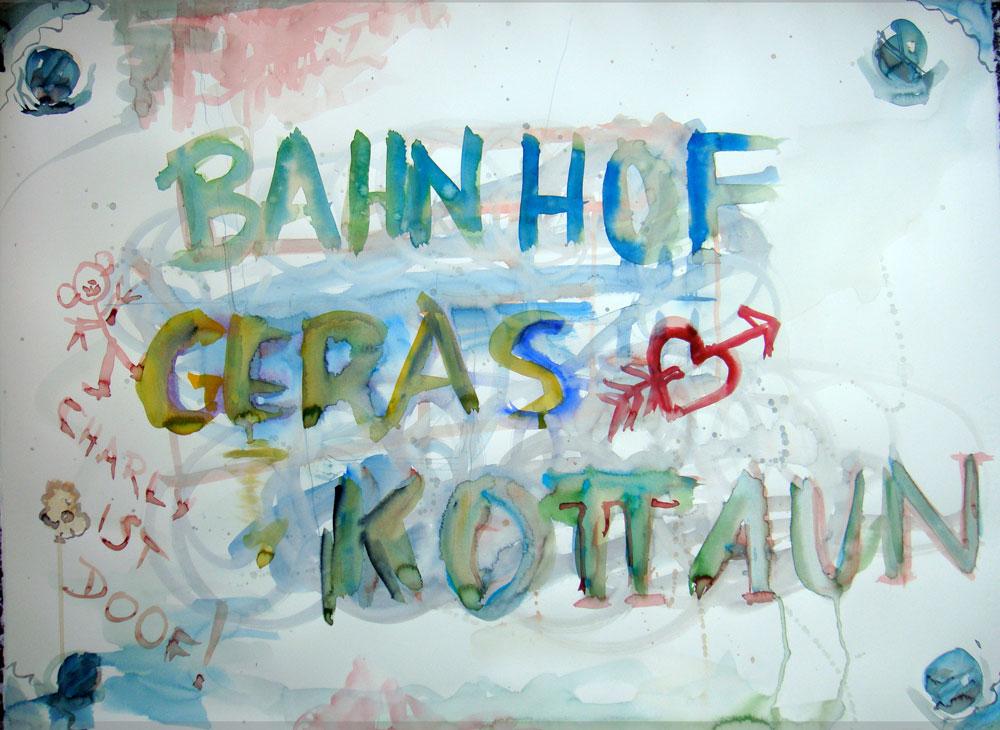 Bahnhof-Geras-Kottaun-Schild