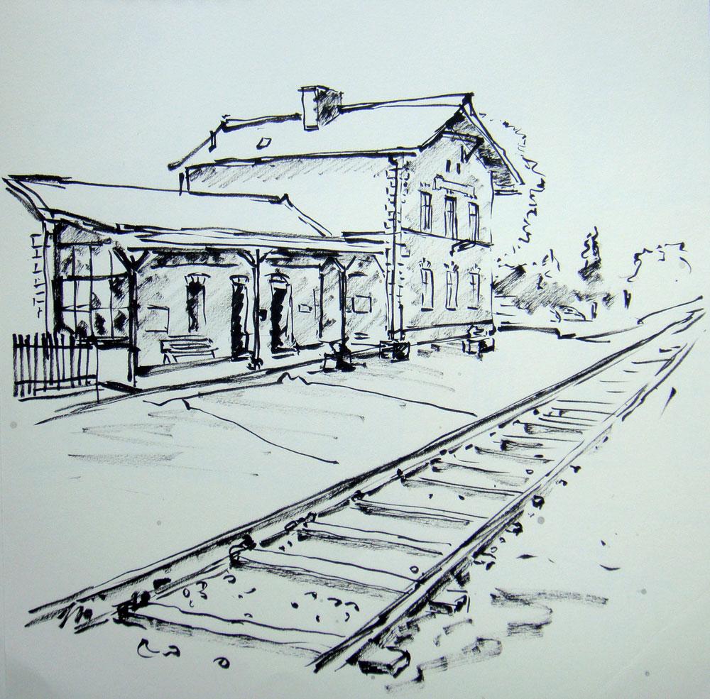 Bahnhof-Geras-Kottaun-Zeichnung